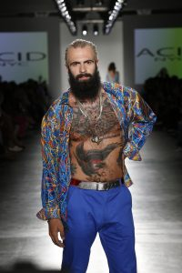 A model walks the runway during Nolcha Shows During New York Fashion Week Spring/Summer 2016 Collections NYFW - Acid NYC at Pier 59 on September 13, 2015 in New York City.