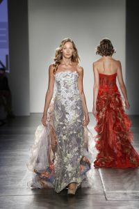 a model walks the runway during Nolcha Shows During New York Fashion Week Spring/Summer 2016 Collections NYFW - Danny Nguyen Couture at Pier 59 on September 13, 2015 in New York City.