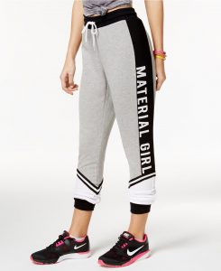 Material Girl Active Colorblocked Logo Sweatpants, Only at Macy's