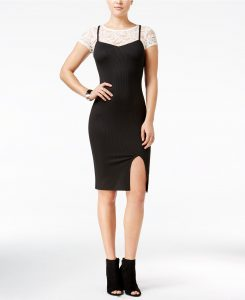 Material Girl Juniors' Layered-Look Slip Dress, Only at Macy's