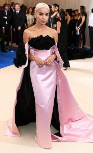 Mandatory Credit: Photo by David Fisher/REX/Shutterstock (8770824dz) Zoe Kravitz The Costume Institute Benefit celebrating the opening of Rei Kawakubo/Comme des Garcons: Art of the In-Between, Arrivals, The Metropolitan Museum of Art, New York, USA - 01 May 2017